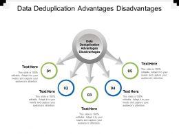 Data Deduplication Advantages Disadvantages Ppt Powerpoint Presentation Outline Icon Cpb