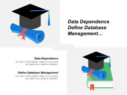 Data Dependence Define Database Management Traditional File Processing