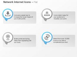 data_download_antenna_computer_hierarchy_globe_ppt_icons_graphics_Slide01