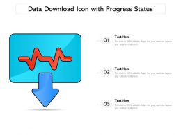 Data Download Icon With Progress Status