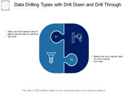 Data Drilling Types With Drill Down And Drill Through