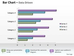 Data Driven 3D Bar Chart For Business Statistics Powerpoint Slides