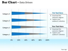 Data Driven 3D Bar Chart For Data Interpretation Powerpoint Slides