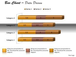 Data Driven 3D Bar Chart For Data Modification Powerpoint Slides