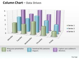 Data Driven 3D Business Inspection Procedure Chart Powerpoint Slides