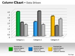 Data Driven 3D Business Trend Series Chart Powerpoint Slides
