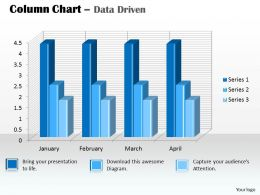 Data Driven 3D Column Chart For Data Analysis Powerpoint Slides