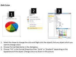Data Driven 3D Pie Chart For Business Process Powerpoint Slides