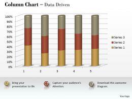 Data Driven 3D Statistical Process Column Chart Powerpoint Slides
