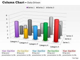 Data Driven 3D Survey For Sales Chart Powerpoint Slides
