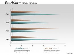 Data Driven 3D Time Based Bar Chart Powerpoint slides