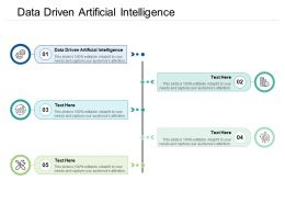 Data Driven Artificial Intelligence Ppt Powerpoint Presentation Show Elements Cpb