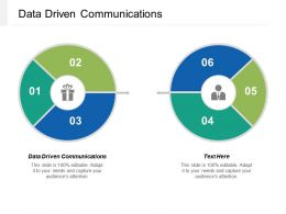Data Driven Communications Ppt Powerpoint Presentation Gallery Objects Cpb