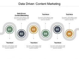 Data Driven Content Marketing Ppt Powerpoint Presentation Designs Cpb