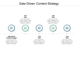 Data Driven Content Strategy Ppt Powerpoint Presentation Show Backgrounds Cpb