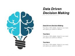 Data Driven Decision Making Ppt Powerpoint Presentation Portfolio Summary Cpb