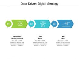 Data Driven Digital Strategy Ppt Powerpoint Presentation Outline Slideshow Cpb