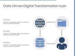 Data Driven Digital Transformation Icon