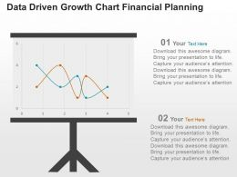 Data Driven Growth Chart Financial Planning Powerpoint Slides