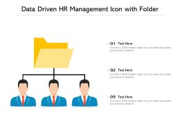 Data Driven HR Management Icon With Folder