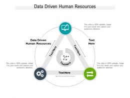 Data Driven Human Resources Ppt Powerpoint Presentation Model File Formats Cpb