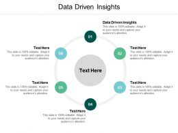 Data Driven Insights Ppt Powerpoint Presentation File Graphics Design Cpb
