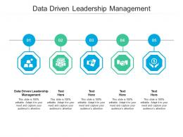 Data Driven Leadership Management Ppt Powerpoint Presentation Styles Pictures Cpb