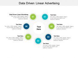 Data Driven Linear Advertising Ppt Powerpoint Presentation Portfolio Ideas Cpb