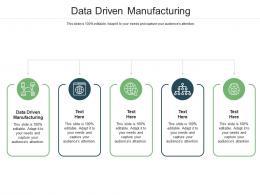 Data Driven Manufacturing Ppt Powerpoint Presentation Slides Design Ideas Cpb