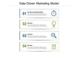 Data Driven Marketing Model Ppt Powerpoint Presentation Model File Formats Cpb