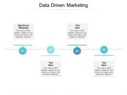 Data Driven Marketing Ppt Powerpoint Presentation Gallery Show Cpb