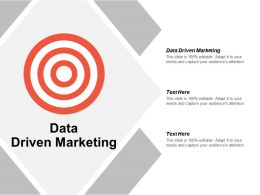 Data Driven Marketing Ppt Powerpoint Presentation Icon Influencers Cpb