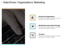 Data Driven Organizations Marketing Communication Strategy Strategic Plan Cpb
