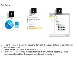 Data Driven Percentage Breakdown Pie Chart Powerpoint Slides