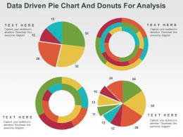 Data Driven Pie Chart And Donuts For Analysis Powerpoint Slides