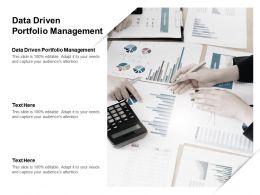 Data Driven Portfolio Management Ppt Powerpoint Presentation Inspiration Microsoft Cpb