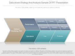 Data Driven Strategy And Analysis Sample Of Ppt Presentation