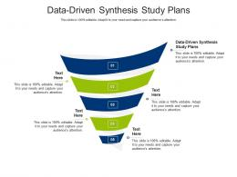 Data Driven Synthesis Study Plans Ppt Powerpoint Presentation File Format Ideas Cpb