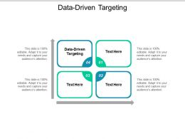 Data Driven Targeting Ppt Powerpoint Presentation Summary Demonstration Cpb