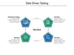 Data Driven Testing Ppt Powerpoint Presentation Gallery Professional Cpb