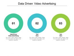 Data Driven Video Advertising Ppt Powerpoint Presentation Styles Outline Cpb