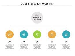 Data Encryption Algorithm Ppt Powerpoint Presentation Diagram Images Cpb