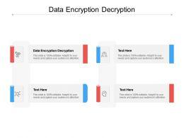 Data Encryption Decryption Ppt Powerpoint Presentation Sample Cpb