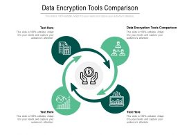 Data Encryption Tools Comparison Ppt Powerpoint Presentation Pictures Design Inspiration Cpb