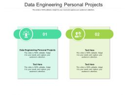 Data Engineering Personal Projects Ppt Powerpoint Presentation Layouts Slide Download Cpb