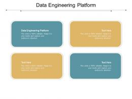 Data Engineering Platform Ppt Powerpoint Presentation Show Clipart Images Cpb