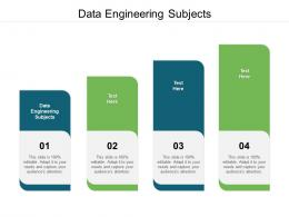 Data Engineering Subjects Ppt Powerpoint Presentation Backgrounds Cpb