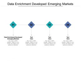 Data Enrichment Developed Emerging Markets Ppt Powerpoint Presentation Portfolio Influencers Cpb
