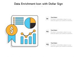 Data Enrichment Icon With Dollar Sign