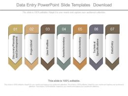 Data Entry Powerpoint Slide Templates Download